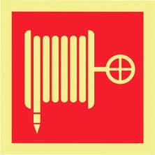 Sinal de boca de incêndio foto-luminescente certificado