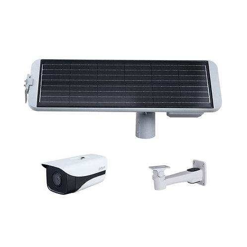 Camara de vigilância com painel solar e visão nocturna com acesso por telemóvel.