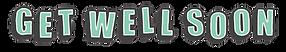 Get Well Soon Logo Green Grey
