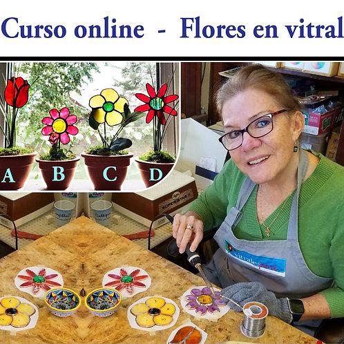 CP Curso online - Flores en vitral