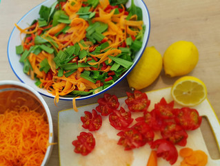 St. Patrick's Day seafood salad!