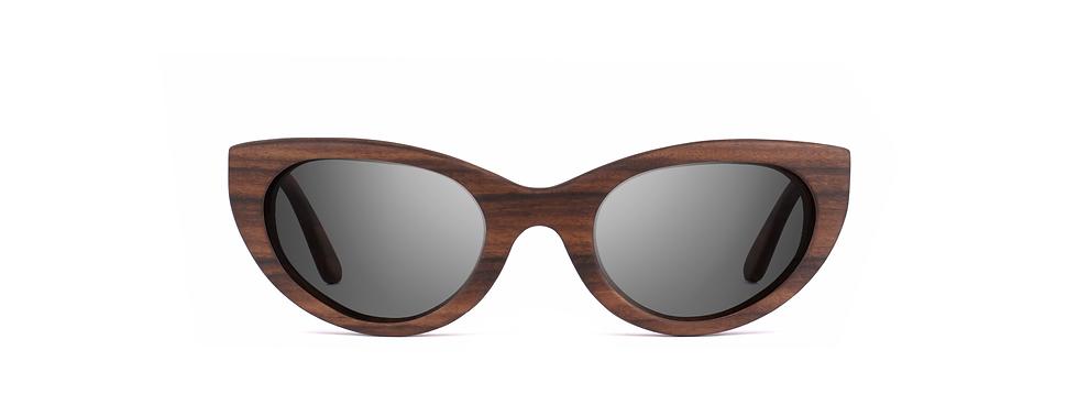 ZIVA wood sunglasses front view