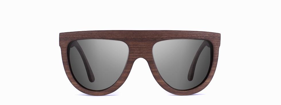 porevit wood sunglasses front view