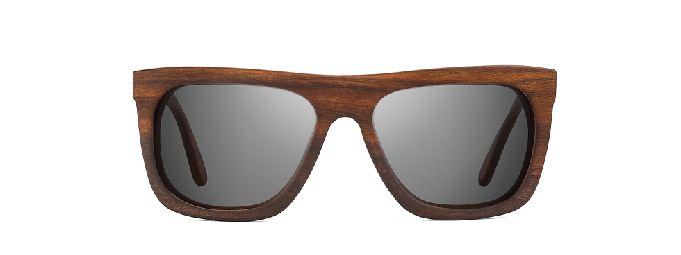PERUN rosewood sunglasses front view