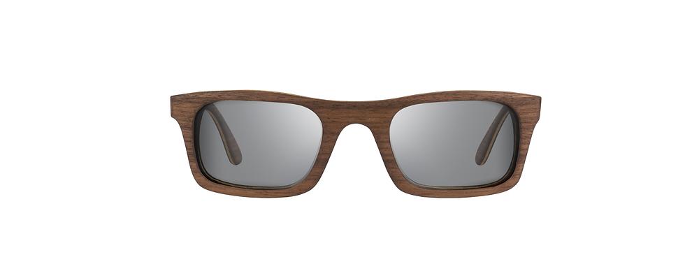 KUPALO walnut wood sunglasses front view