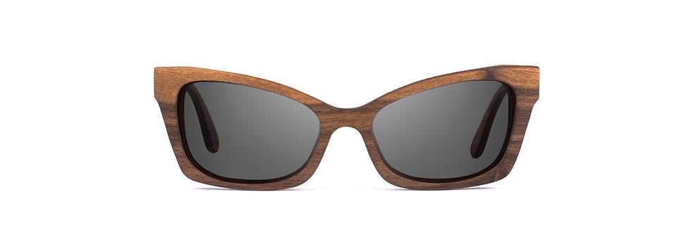 VIDA wood sunglasses front view