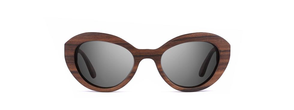 DEVANA wood sunglasses front view