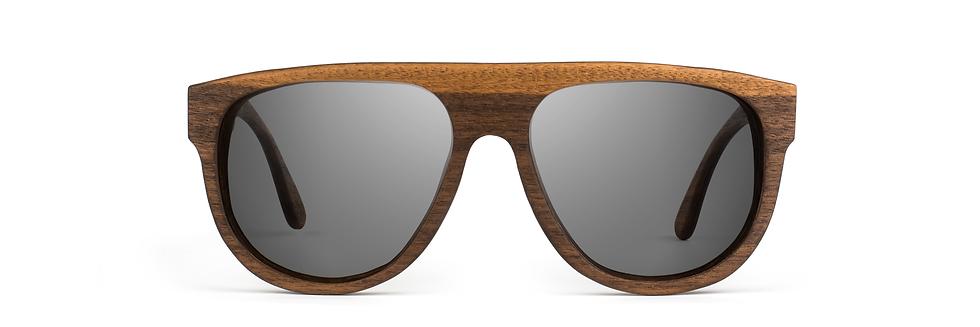 HORZ wood sunglasses front view