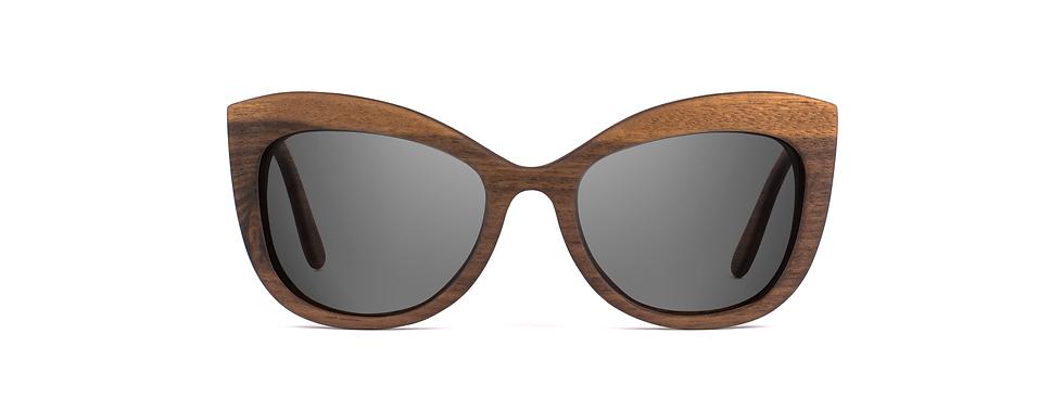 LADA wood sunglasses front view