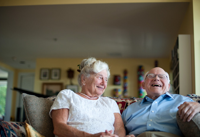 Betty Perkins, 87, and Don Frisbee, 88, are celebrating their love at a commitment ceremony Saturday at the house of Perkins' daughter on Skyline Boulevard. They live across the hall from each other in the Terwilliger Plaza apartments and met four years ago. Frisbee says he especially loves Perkins' cooking. (The Oregonian)