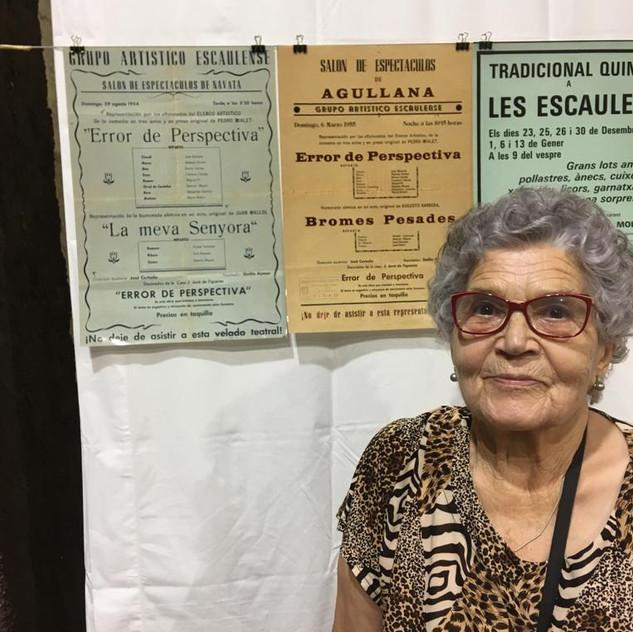 La Rosita Carreras actriu del Grup Artistic Escaulenc