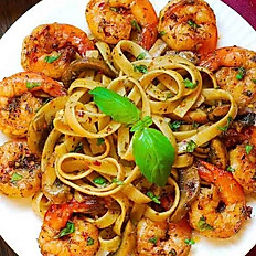 Pesto Shrimp Fettuccine