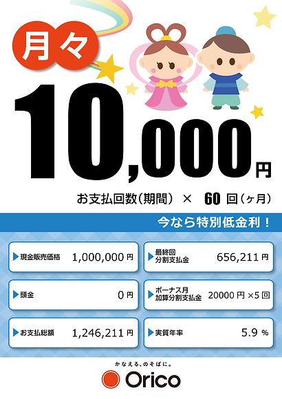 7月のローン計算書(七夕祭り)
