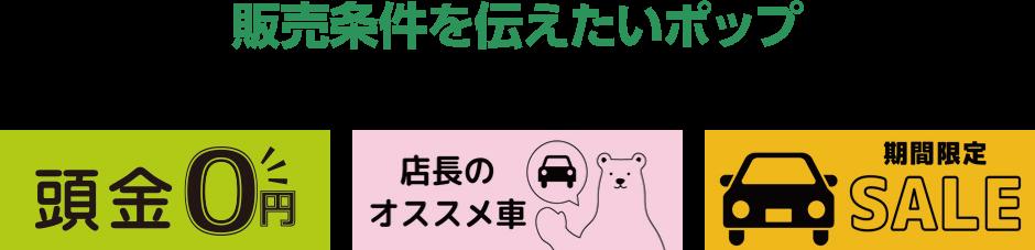 ローン/頭金ゼロ・・・など