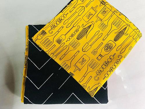 ensemble de 6 serviettes de table en coton doublé
