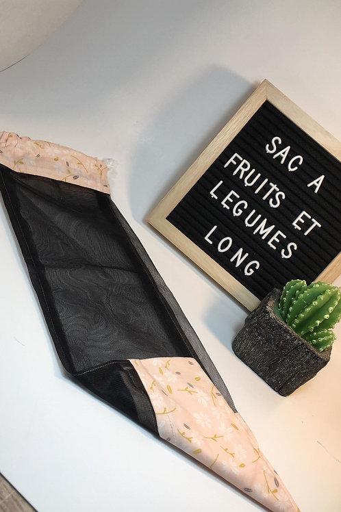 Long sac à fruits et légumes,sacs pour collation ,sac réutilisable