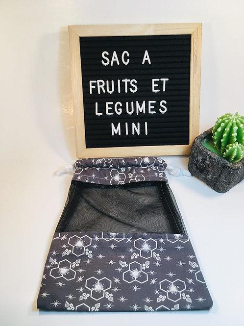 sacs à fruits et légumes grandeur Mini   ,sacs pour collation ,sac réutilisable