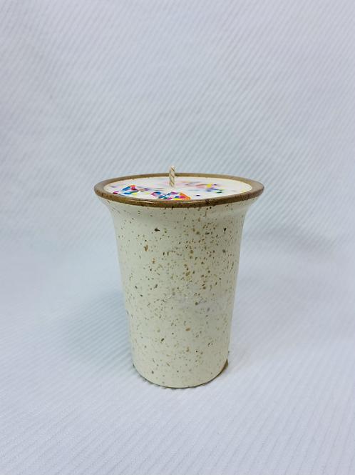 chandelle en pot de céramique  Gâteaux de fête