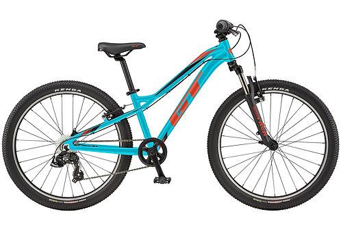 "GT Stomper Ace 24"" Wheel Aqua Mountain Bike 2020"
