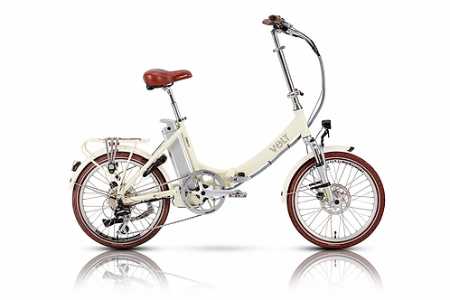 Volt Metro LS Folding Electric Bike Cream