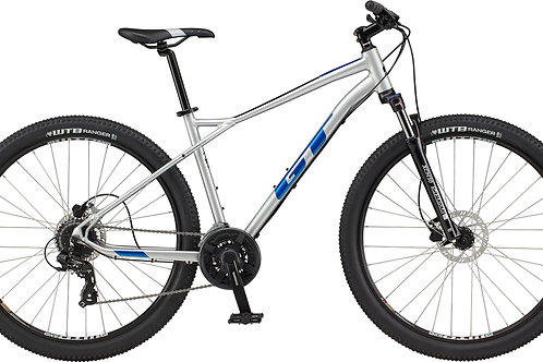 GT Aggressor Expert Silver Hardtail Mountain Bike 2021