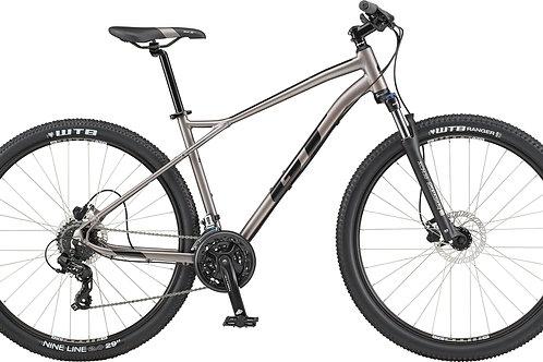 GT Aggressor Expert Silver Hardtail Mountain Bike 2020