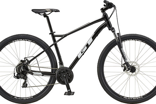 GT Aggressor Sport Satin Black Hardtail Mountain Bike 2020