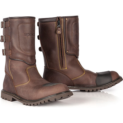 Spada Foundry Waterproof Leather Motorcycle Boots Brown