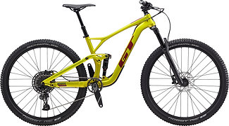 GT Sensor Carbon Elite Lime Gold Full Suspension Mountain Bike 2020