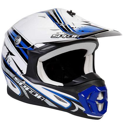 Spada Voilator Hawk Motocross Helmet Blue/White