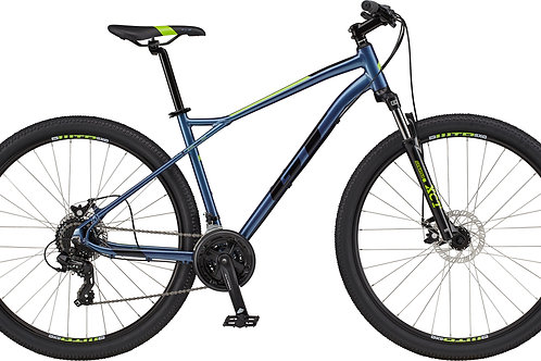 GT Aggressor Comp Blue Silver Hardtail Mountain Bike 2020