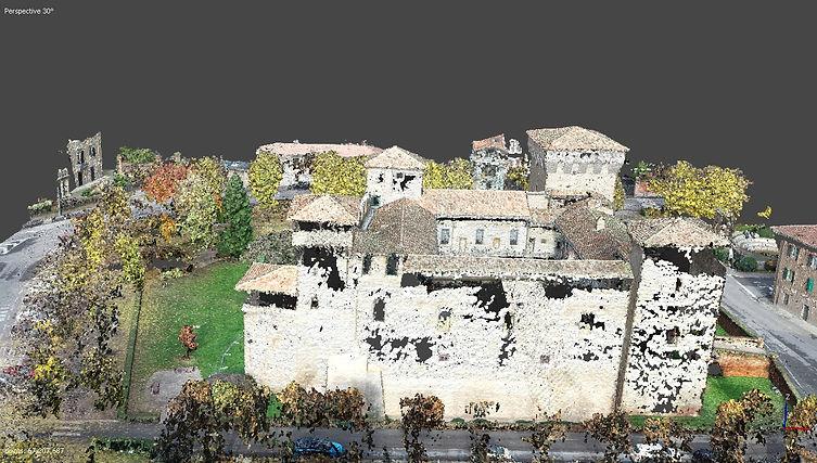 rilievo con drone di castello