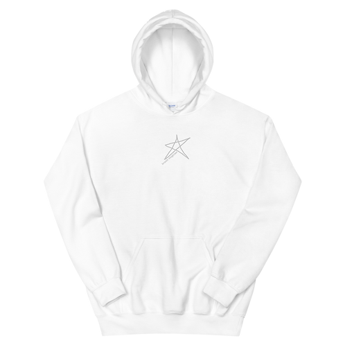 'Day' Embroidered Logo Hoodie - White
