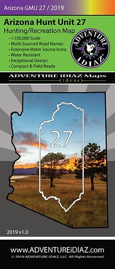 Arizona Hunt Unit 27 Map; by ADVENTURE iDIAZ