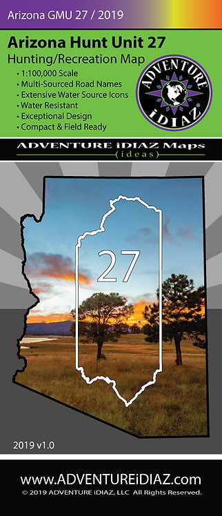 Arizona Hunt Unit 27 Map