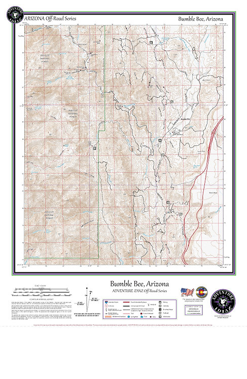 Bumble Bee, Arizona Map / Off-Road Series