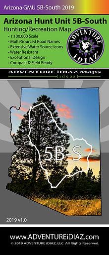 Arizona Hunt Unit 5B South Map; by ADVENTURE iDIAZ