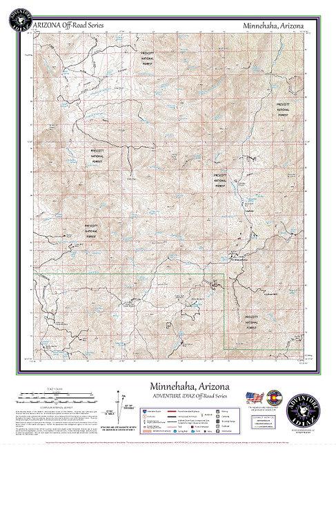 Minnehaha, Arizona Map / Off-Road Series