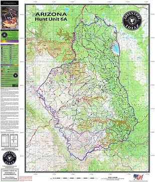 Unit 6a Arizona Map.Arizona Hunt Unit Maps United States Adventure Idiaz