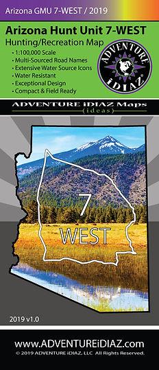 Arizona Hunt Unit 7 West Map; by ADVENTURE iDIAZ