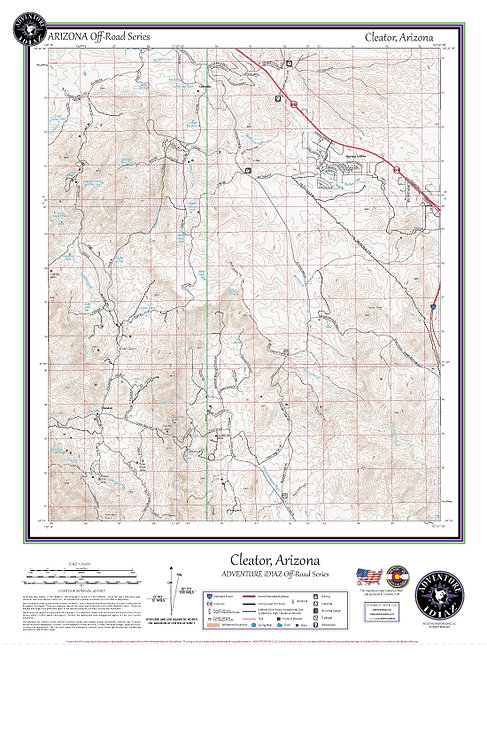 Cleator, Arizona Map / Off-Road Series