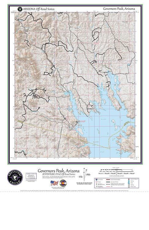Governors Peak, Arizona Map / Off-Road Series