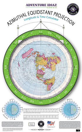 Flat earth maps - Gleason's Azimuthal Equidistant Projection Map. Is the world flat?