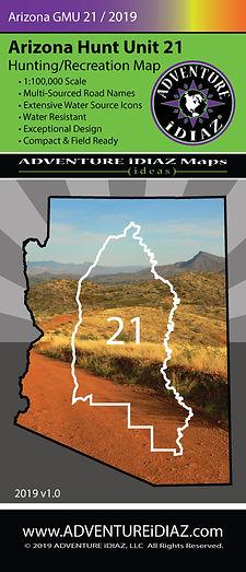 Arizona Hunt Unit 21 Map; by ADVENTURE iDIAZ