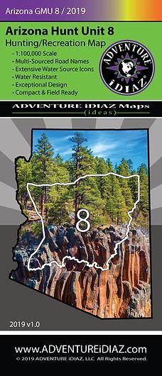 Arizona Hunt Unit 8 Map; by ADVENTURE iDIAZ