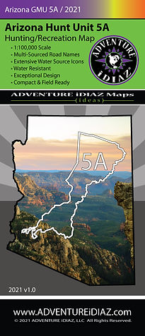 Arizona Hunt Unit 5A Map; by ADVENTURE iDIAZ