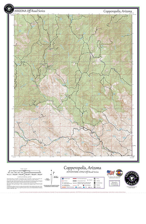 Copperopolis, Arizona Map / Off-Road Series
