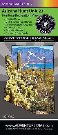 Arizona Hunt Unit 23 Map; by ADVENTURE iDIAZ