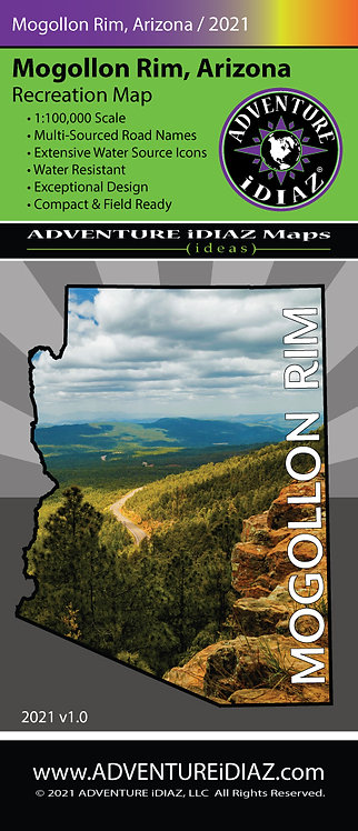 Mogollon Rim Map