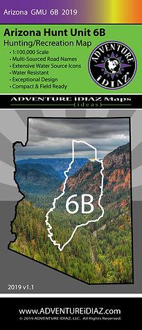 Arizona Hunt Unit 6B Map; by ADVENTURE iDIAZ